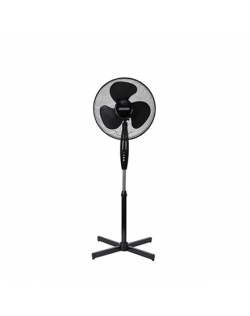 Mesko Fan MS 7311 Stand Fan, Number of speeds 3, 45 W, Oscillation, Diameter 40 cm, Black