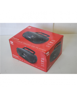 SALE OUT. New-One RD306 Radio portable lecteur CD New-One RD306 Portable radio CD player, Black, DAMAGED PACKAGING