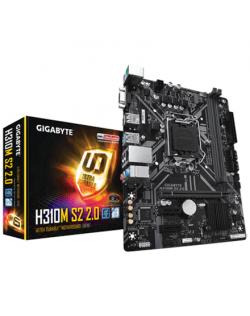 Gigabyte H310M S2 2.0 Processor family Intel, Processor socket LGA1151, DDR4 DIMM, Memory slots 2, Chipset Intel H, Micro ATX