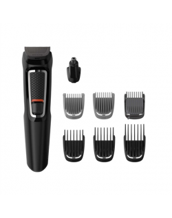 Philips Warranty 24 month(s), stubble combs (1,2 mm) , 1 adjustable beard comb (3-7 mm) and 3 hair combs (9,12,16 mm)., 8-in-1 t