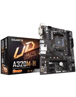 Gigabyte GA-A320M-H 3.0 Processor family AMD, Processor socket AM4, DDR4 DIMM, Memory slots 2, Number of SATA connectors 4 x SAT