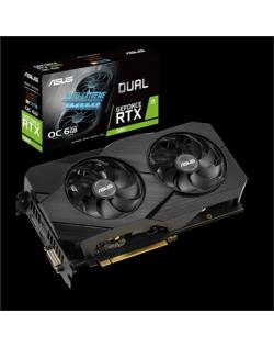 Asus DUAL-RTX2060-O6G-EVO NVIDIA, 6 GB, GeForce RTX 2060, GDDR6, PCI Express 3.0, Processor frequency 1695 MHz, DVI-D ports quan
