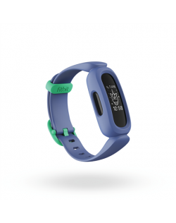 Fitbit Ace 3 Fitness tracker, OLED, Touchscreen, Waterproof, Bluetooth, Cosmic Blue/Astro Green