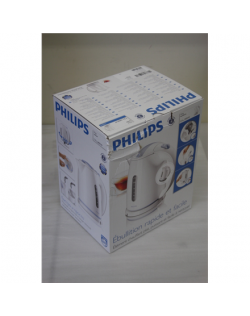 SALE OUT. PHILIPS HD4646/00 Kettle Philips Kettle HD4646/00 Standard, 2400 W, 1.5 L, Plastic, 360° rotational base, White, DAMAG