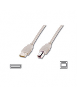Logilink USB 2.0 connection cable USB A male, USB B male, 5 m, Grey