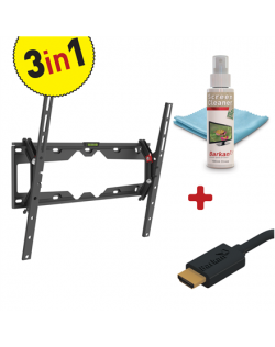 """Barkan 3 in 1 Combo: Flat /Curved TV Wall Mount + Screen Cleaner + HDMI Cable CM310+ Wall Mount, Tilt, 29-65 """", Maximum weight ("""
