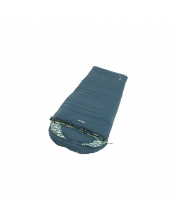 Outwell Camper L, Sleeping Bag - Left Zipper, 235 x 90 cm, YKK 2-way L-shape open-end with auto lock, Blue