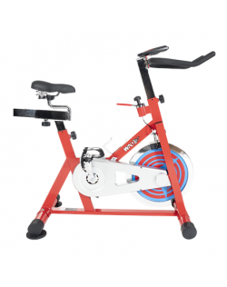 WNQ F1-318M1 Home Use Spin Bike, 8 Gear, Friction mechanism, 110 kg, Chain Driven, Bright Red, LCD display