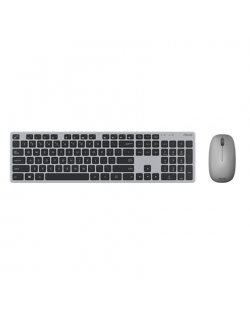 Asus W5000 Keyboard and Mouse Set, Wireless, Keyboard layout Russian, Grey, Wireless connection Mouse: USB, Mouse included, 460