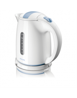 Kettle Philips Kettle HD4646/70 Standard, Plastic, White, 2400 W, 360° rotational base, 1.5 L