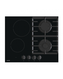 Gorenje Hob GCE691BSC Gas on glass + vitroceramic, Number of burners/cooking zones 4, Mechanical, Black