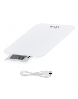 Adler Electronic Kitchen scale AD 3167w Maximum weight (capacity) 10 kg, Graduation 1 g, Display type LCD, White
