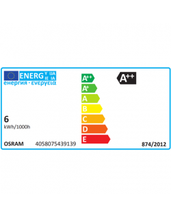 Osram Parathom Retrofit Classic B 60 E14, 6 W, Warm White, 60 W, 6kWh/1000h, 806 lm