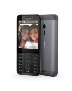 """Nokia 230 Dark Silver, 2.8 """", TFT, 240 x 320 pixels, 16 MB, Dual SIM, Mini-SIM, Bluetooth, 3.0, USB version microUSB 1.1, Built-"""