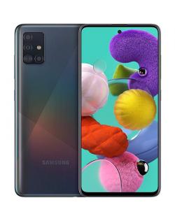 """Samsung Galaxy A51 A515 Black, 6.5 """", Super AMOLED, 1080 x 2400, Exynos 9611, Internal RAM 4 GB, 64 GB, MicroSD, Dual SIM, Nano-"""