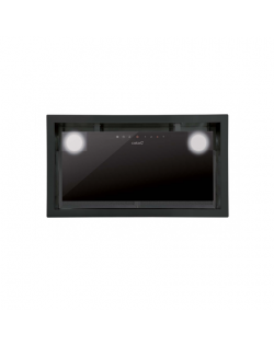 CATA Hood GC DUAL A 45 XGBK/D Canopy, Energy efficiency class A, Width 45 cm, 820 m³/h, Touch control, LED, Black glass