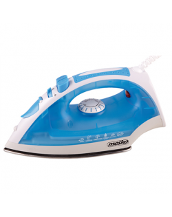 Iron Mesko MS 5023 Blue/White, 2200 W, With cord, Anti-scale system, Vertical steam function