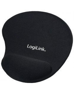 Mousepad with Gel Wrist Rest Support, Logilink ID0027 Black