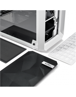 Fractal Design Meshify C White - TG FD-CA-MESH-C-WT-TGC Side window, White, ATX, Power supply included No