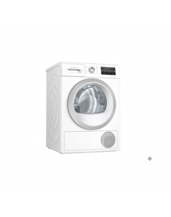 Bosch Dryer mashine WTW85T9SSN Energy efficiency class A++, Front loading, 9 kg, Sensitive dry, LED, Depth 60 cm, White