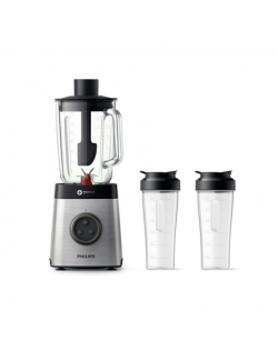 Philips Blender HR3655/00 Stainless steel, 1400 W, Glass, 2 L, Type Tabletop, 35000 RPM