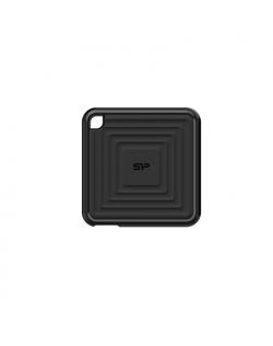 Silicon Power Portable SSD PC60 480 GB, USB 3.2, Black