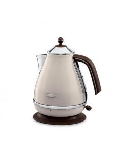 Delonghi KBOV 2001.BG Standard kettle, Stainless steel, Beige, 2000 W, 360° rotational base, 1.7 L