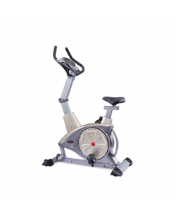 WNQ F1-7318LC ECB Semi-Commercial Upright Bike, ECB motor permanent magnetic resistance system, 130 kg, Silver Grey, 5 '' LCD bl
