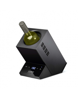 Caso WineCase one Black, Wine cooler for one bottle, Black
