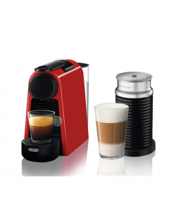 Delonghi Coffee maker EN 85.R Essenza Mini Pump pressure 19 bar, Capsule coffee machine, 1150 W, Red