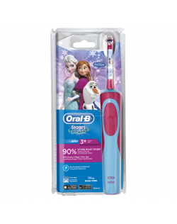 Oral-B Toothbrush D12.513 Frozen Rechargeable, For kids, Blue/Pink