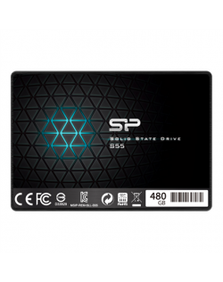 "Silicon Power Slim S55 480 GB, SSD form factor 2.5"", SSD interface SATA, Write speed 440 MB/s, Read speed 550 MB/s"