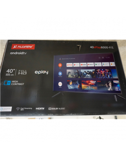 """SALE OUT. Allview 40ePlay6000-F/1 40"""" (101 cm) Full HD, Smart, Android, LED TV, Black Allview Smart TV 40ePlay6000-F/1 40"""" (101 cm), Android 9.0 TV, FHD, 1920 x 1080 pixels, Wi-Fi, DVB-T/T2/C/S/S2, Silver/Black, DAMAGED PACKAGING"""