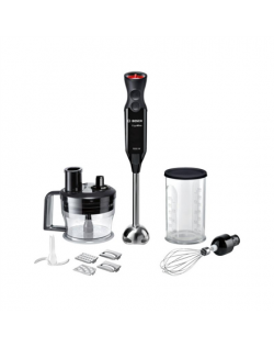 Bosch Blender ErgoMixx MS62B6190 Hand Blender, 1000 W, Number of speeds 12, Turbo mode, Black/Stainless steel