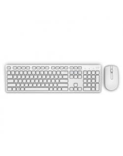 Dell KM636 Standard, Wireless, Keyboard layout EN, White, Mouse included, US International, Numeric keypad