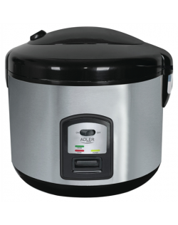 Adler AD 6406 Rice cooker Adler AD 6406 1,5 L, Black, Stainless steel, Lid included