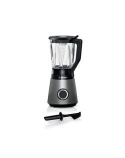 Bosch VitaPower Serie 4 Blender MMB6172S Tabletop, 1200 W, Jar material Glass, Jar capacity 1.5 L, Ice crushing, Black/Silver