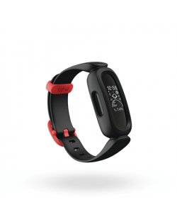 Fitbit Ace 3 Fitness tracker, OLED, Touchscreen, Waterproof, Bluetooth, Black/Racer Red