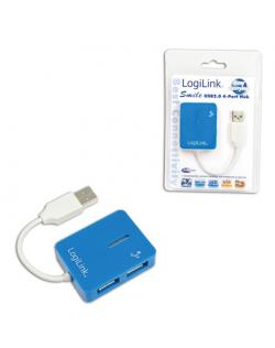 Logilink USB 2.0 Hub 4-Port, Smile, Blue