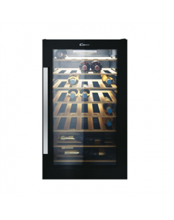 Candy Wine Cooler CWC 154 EEL Energy efficiency class G, Free standing, Bottles capacity Up to 41 bottles, Black