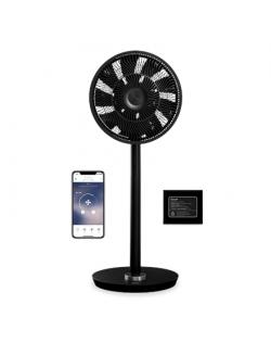Duux Smart Fan Whisper Flex Smart Black with Battery Pack Stand Fan, Timer, Number of speeds 26, 2-22 W, Oscillation, Diameter 3