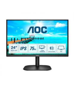 "AOC Thin and Sleek Monitor 24B2XD 23.8 "", IPS, FHD, 1920 x 1080, 16:9, 4 ms, 250 cd/m², Black"