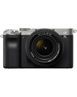 ILCE-7CL Sony Alpha A7C Full-frame Mirrorless Interchangeable Lens Camera with Sony FE 28-60mm F4-5.6 Zoom Lens, Silver