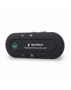Gembird Multipoint Bluetooth carkit BTCC-03 Hands free device, Bluetooth, Black, Volume control, 1.5 cm, 4.7 cm, 11.8 cm