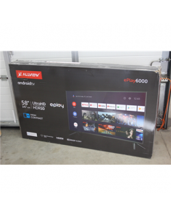 """SALE OUT. Allview 58ePlay6000-U 58"""" (147cm) 4K UHD LED Smart Android TV with Google Assistant Remote Allview Smart TV 58ePlay600"""