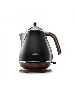 Delonghi Icona Vintage KBOV2001BK Standard kettle, Stainless steel, Black, 2000 W, 1.7 L, 360° rotational base