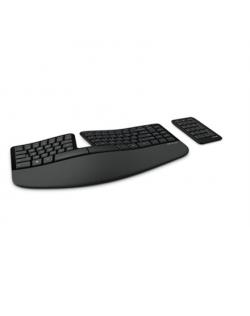 Microsoft 5KV-00005 Sculpt Ergonomic Keyboard for Business Numeric keypad, Black, English International