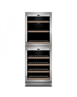 Caso Wine cooler WineChef Pro 126-2D Energy efficiency class G, Free standing, Bottles capacity Up to 126 bottles, Cooling type