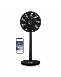 Duux Smart Fan Whisper Flex Stand Fan, Timer, Number of speeds 26, 3-27 W, Oscillation, Diameter 34 cm, Black