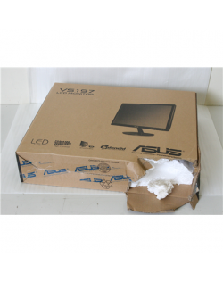 """SALE OUT. ASUS LCD VS197DE 18.5""""/0.3/50M:1/5ms Asus LCD VS197DE 18.5 """", TN, 1366 x 768, 16:9, 5 ms, 200 cd/m², Black, D-Sub, DAMAGED PACKAGING, LED monitor with 50,000,000:1 high contrast ratio"""